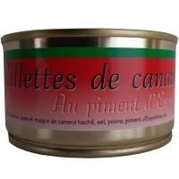 Rillettes de canard au piment d'Espelette - 190g