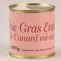Foie gras de canard entier mi-cuit 280g