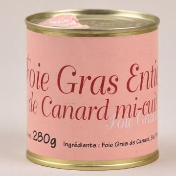 Foie gras de canard entier mi-cuit - 280g