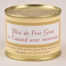 Bloc de foie gras de canard avec morceaux -190g