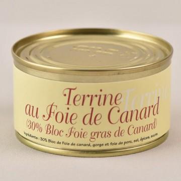 Terrine au foie de canard - 30% bloc de foie gras - 140g