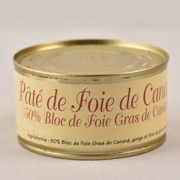 Pâté au foie de canard - 50% bloc de foie gras - 190g