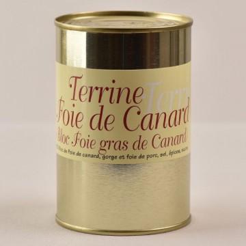 Terrine au foie de canard - 25% bloc de foie gras - 400g